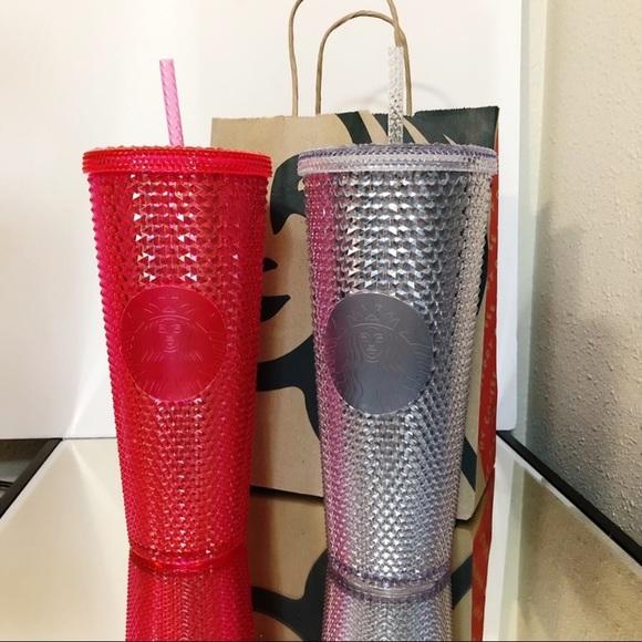 NWT Starbucks BLING Studded Tumbler Cups Set of 2